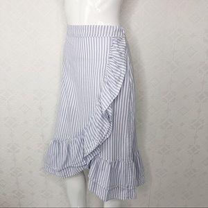 GAP Skirts - 💜Gap Striped Ruffle Midi Skirt